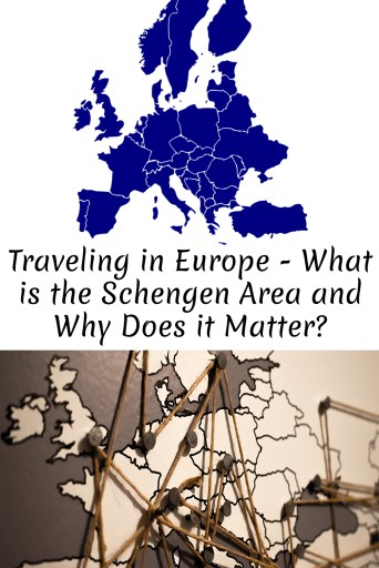 Europe map image to save article for Pinterest