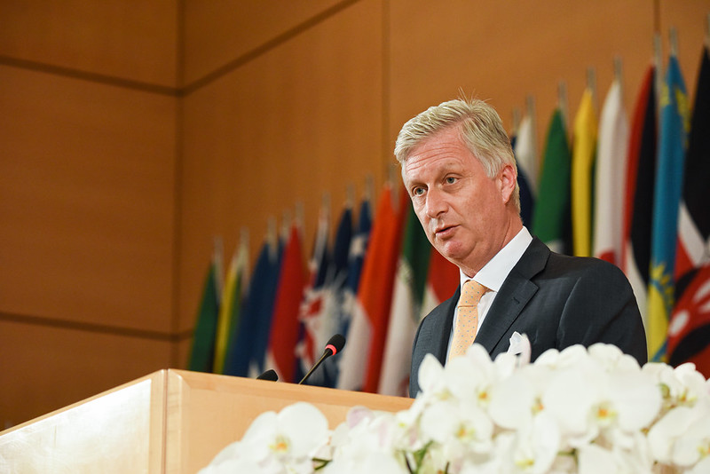 King Philippe speaking at the ILO
