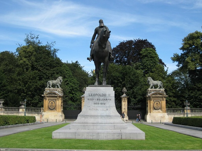 King Leopold II statue in Brussels