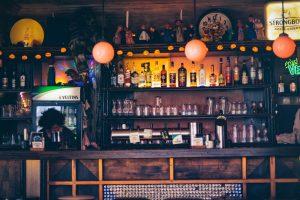 bar at a british pub