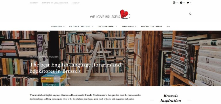 We Love Brussels blog post