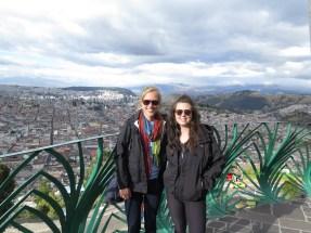 On top of La Virgen de Quito statue