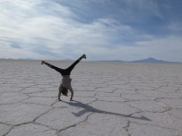 Playing in the Salt Flats
