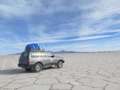 Our ride in the Salar