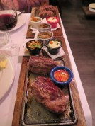 Half portion of steak at La Cabrera