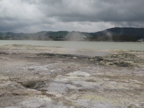 Small geysers and bubbling holes
