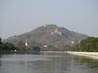 Mandalay Hill from Mandalay Palace moat