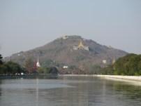 Mandalay Hill from Mandalay Palace moat
