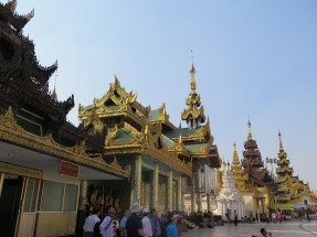 Entering Shwedagon Pagoda