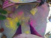My right foot is still pink