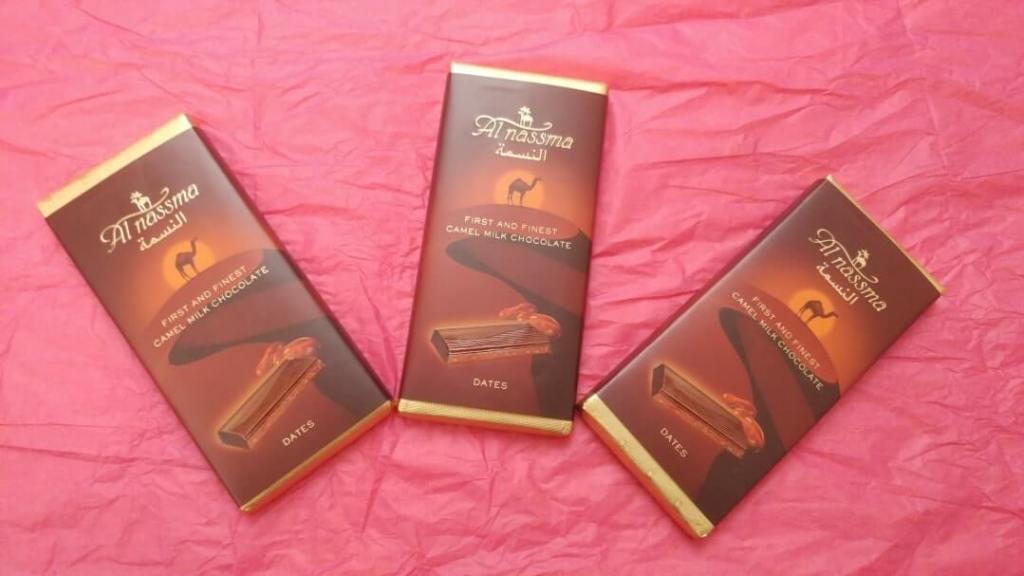 camel milk chocolates, Dubai, UAE