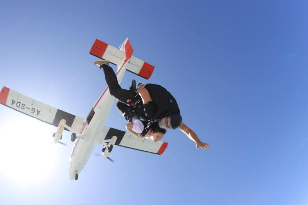 plane, tandem skydiving, extreme sports