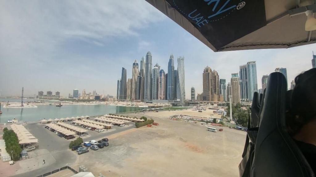 view, Dubai Marina, city