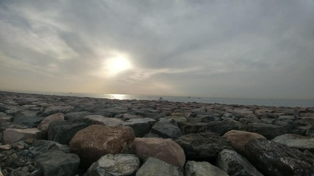 Persian Gulf, rocks, Dubai