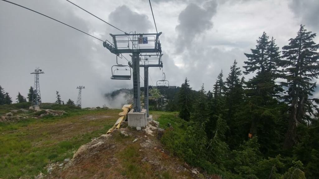 Grouse Mountain, peak, chairlift, forest, Vancouver
