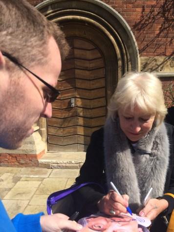 Meeting Dame Helen Mirren.