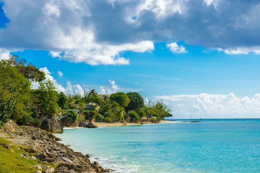 Coast of the Carribean Sea in Bridgetown.