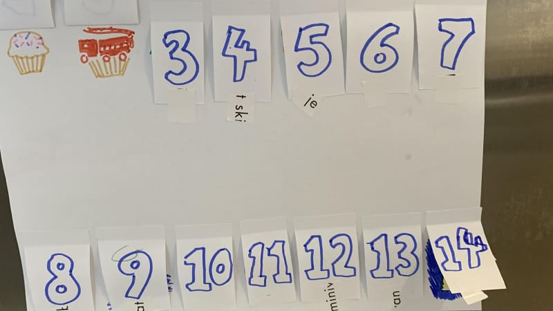 Manley and her kids created a calendar to count down the number of days left in quarantine.