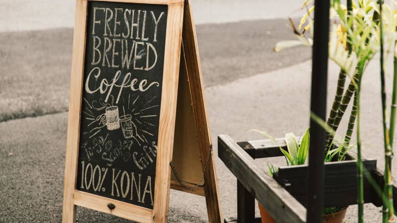 One of the best parts of visiting Hawaii: locally-grown Kona coffee