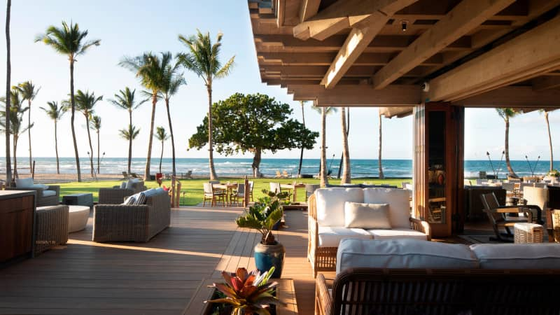 At CanoeHouse, the ocean-front restaurant at Mauna Lani, order the 5-course tasting menu from chef and manager, Matt and Yuka Raso.