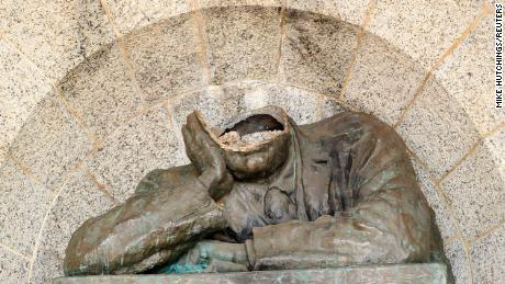 Statue of British colonialist Cecil Rhodes decapitated in South Africa