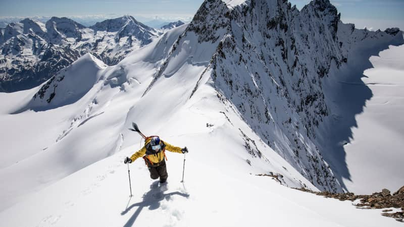 In happier times, Daron Rahlves was skiing during 'Race the Face' in Zermatt in 2018.
