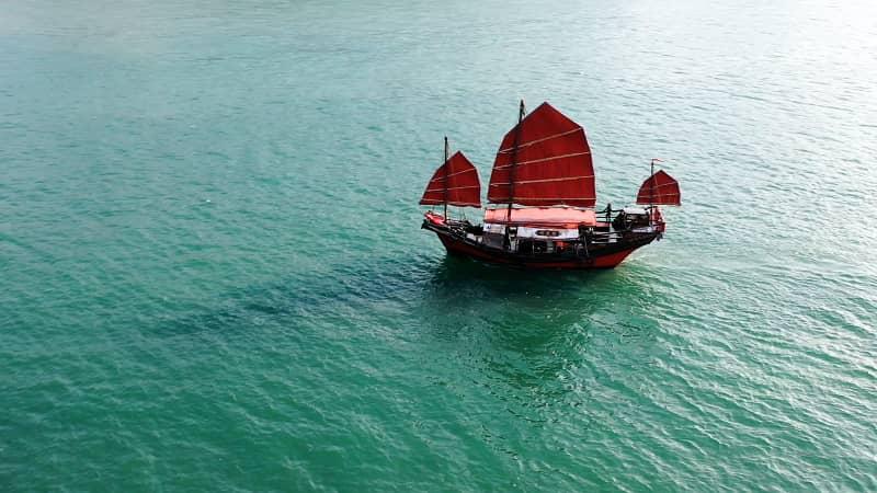 dukling junk boat