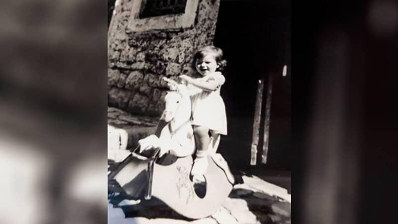 Old photo of Faccini's sister at her granny's house c Josie Faccini copy-2