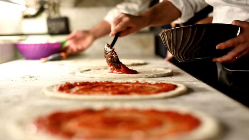 Once the Neapolitans started eating tomato, it quickly became synonymous with pizza.
