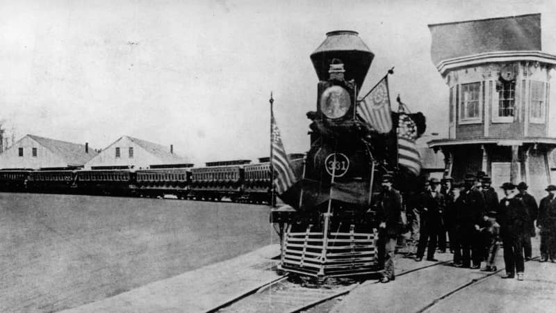 Train terminus: Lincoln's posthumous final journey was made by rail.