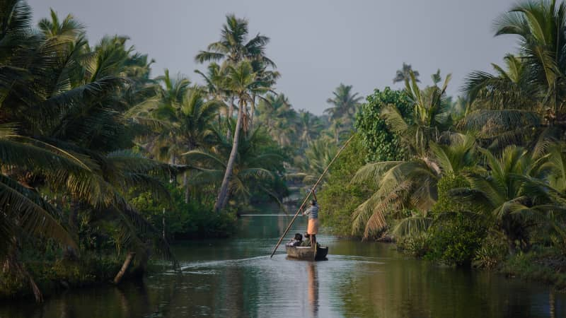 Munroe Island is sometimes called India's Venice.