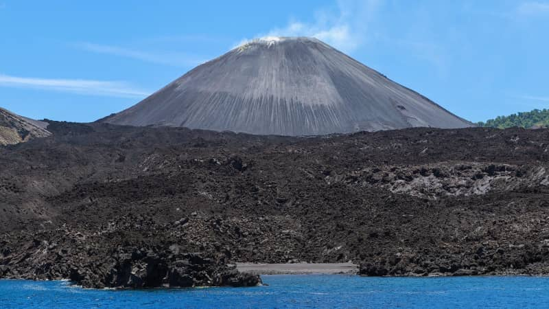 This unnamed volcano is the only active one in India.