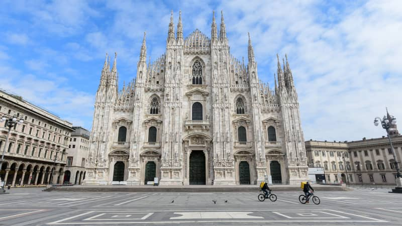 The couple wanted to be within striking distance of a major city -- and picked Milan.
