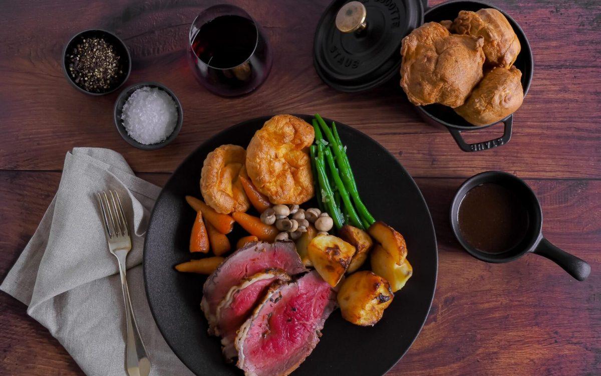 Tenderloin beef roast dinner from The Savoy