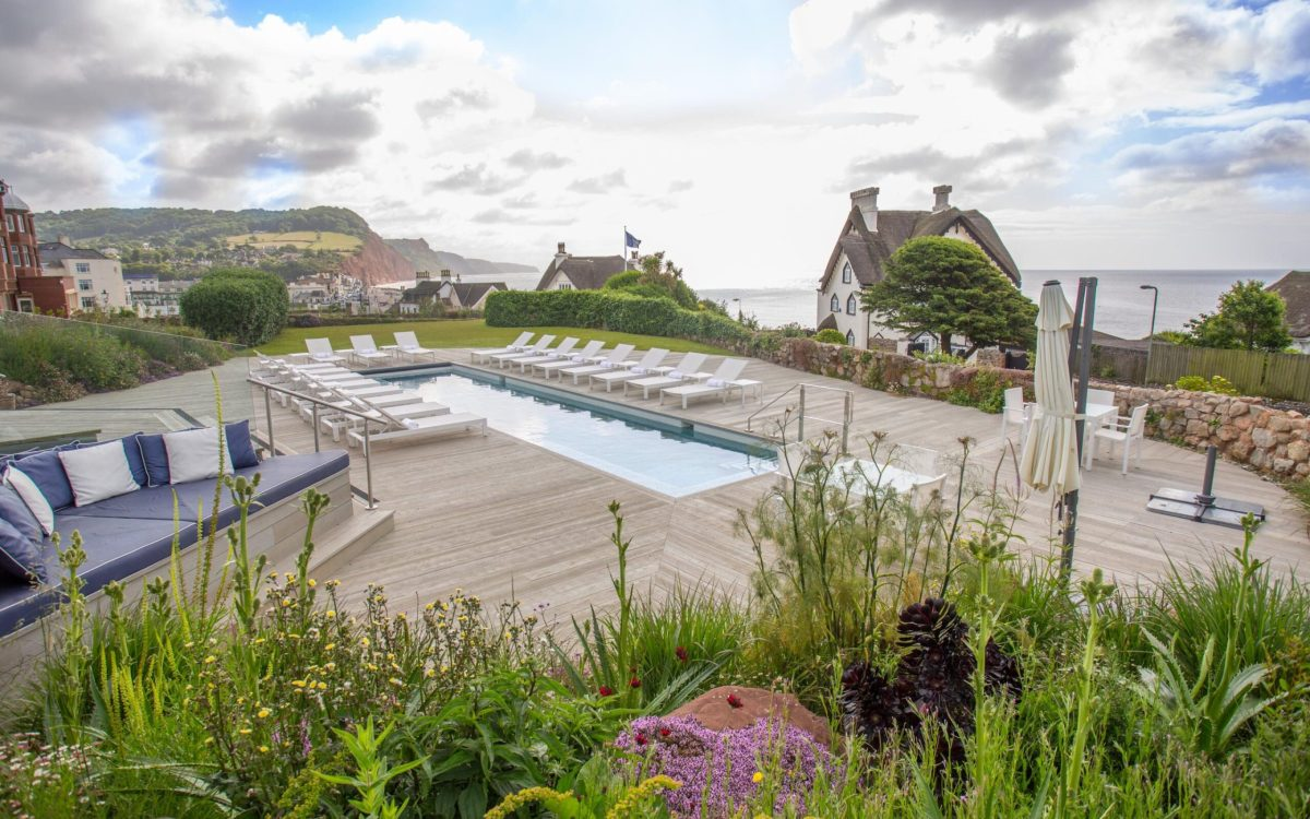 The outdoor pool atSidmouth Harbour Hotel & Spa, Devon