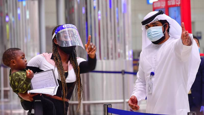 Face coverings are mandatory in all public places in Dubai.