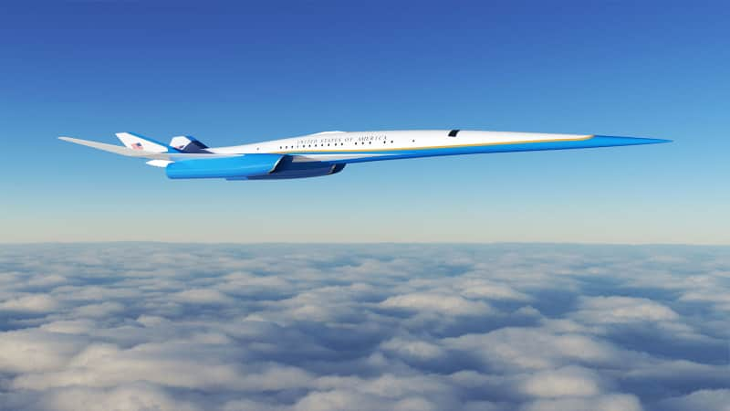 Exosonic design for supersonic plane for US Executive Branch
