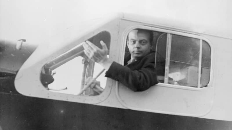 Saint-Exupery circa 1935: French airman and writer Antoine de Saint-Exupery (1900 - 1944), who was killed in a reconnaissance flight over North Africa during World War II. His best known literary work is the children's story 'Le Petit Prince' ('The Little Prince'). (Photo by Hulton Archive/Getty Images)