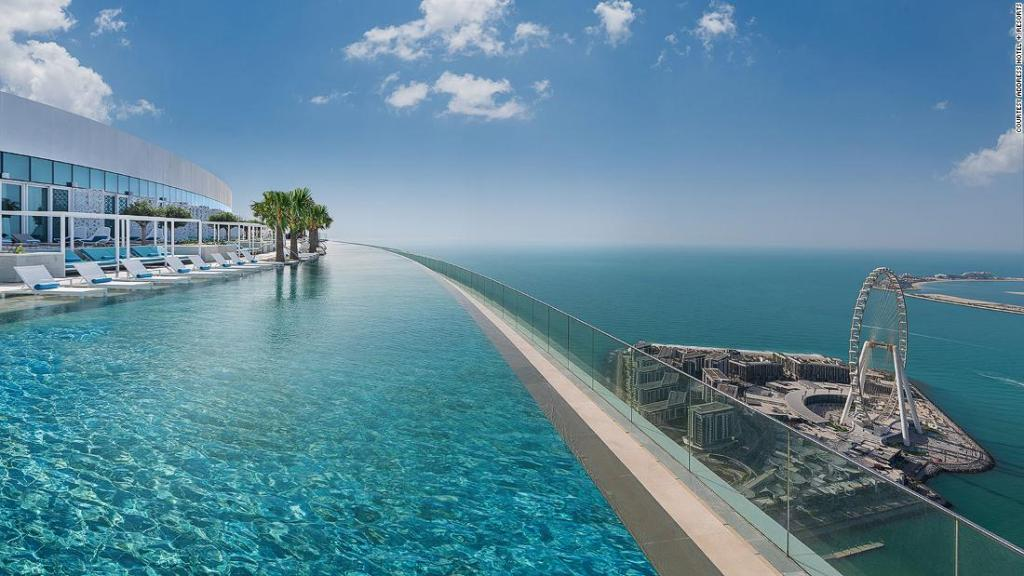 The world's highest infinity pool has opened in Dubai