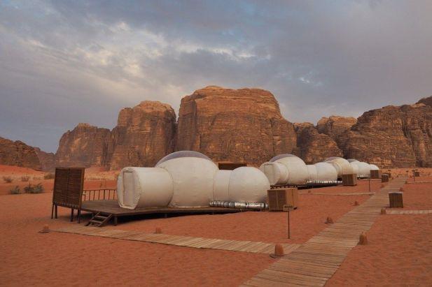 Camping in wadi rum Jordan