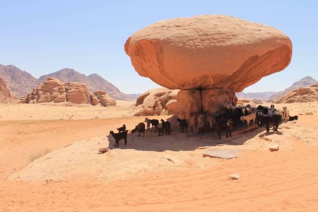 Lawrence of Arabia flim in Wadi Rum Jordan