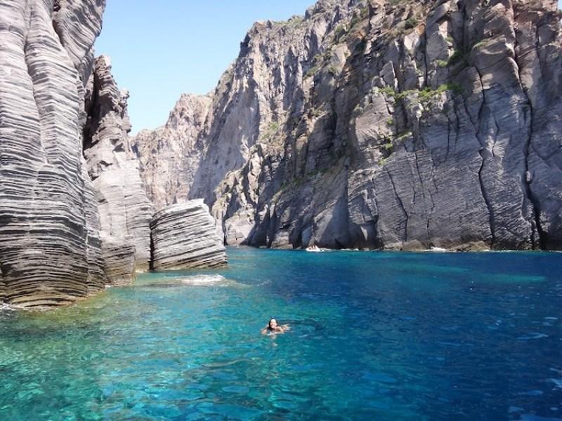 The Aeolian Islands beach