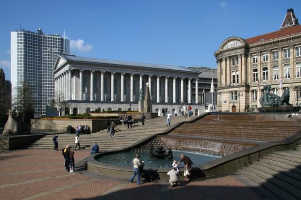 Birmingham City center and Victoria Square