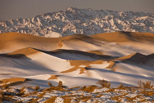 Gobi Desert in winter