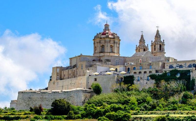 Hilltop Town of Mdina Malta Island