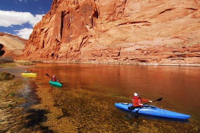 Kayaking in River Colorado