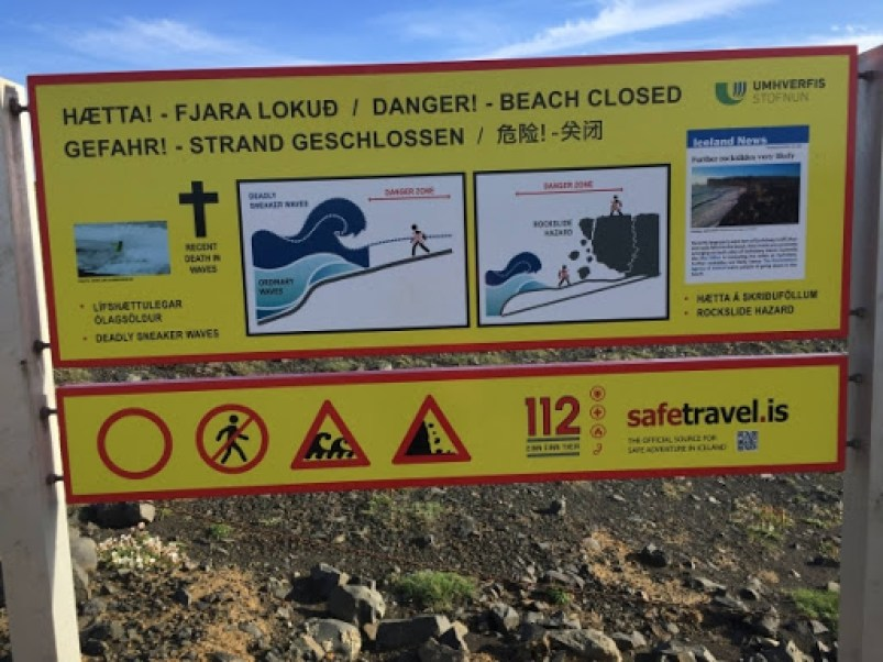 Safety Tips for visiting beaches in Iceland