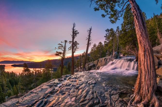 Visit Emerald Bay Waterfalls eagle falls