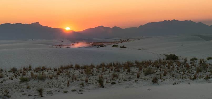 catch sunrise in White Sands National Park