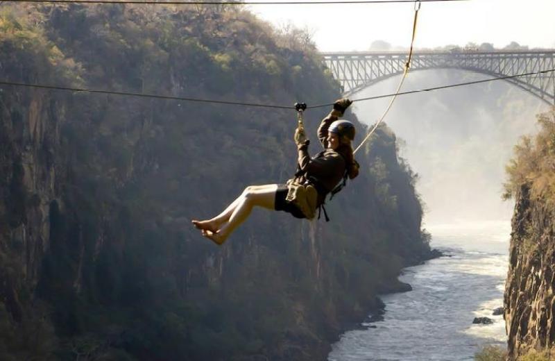 Zipline tour in Victoria Falls in Zambia